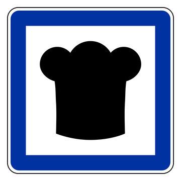 Kochhaube und Schild