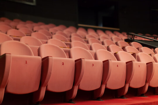 empty theater seats without audience