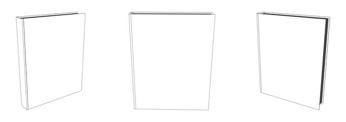 Fototapeta Vector book mockup with blank cover, template illustration obraz