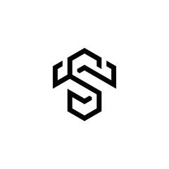 Fototapeta s t st ts initial logo design vector template obraz