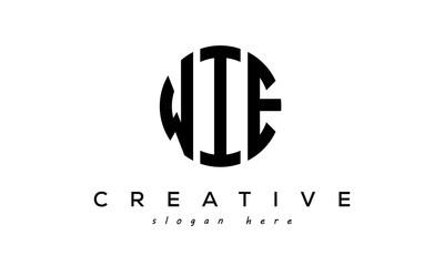 Obraz Letter WIE creative circle logo design vector - fototapety do salonu