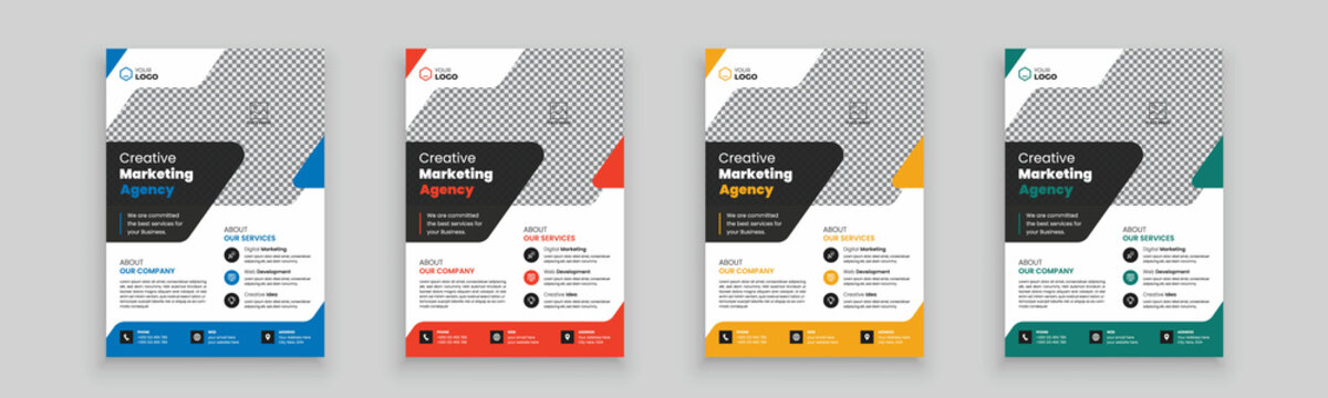 Creative Corporate business agency flyer template with clean design. Brochure design, cover modern layout, annual report, poster, flyer