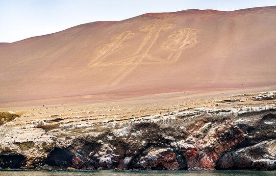 The Paracas Candelabra, a prehistoric geoglyph in Peru