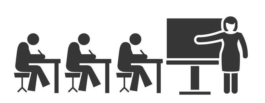 teaching and schooling icon - vector illustration concept