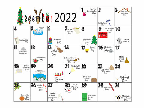 Dcember 2022 Quirky Holidays and Unusual Celebrations