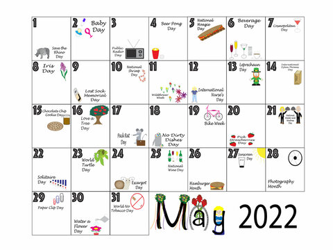 May 2022 Quirky Holidays and Unusual Celebrations