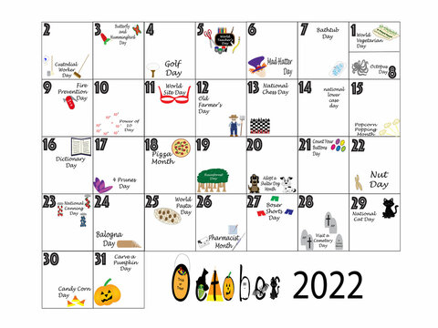 October 2022 Quirky Holidays and Unusual Celebrations