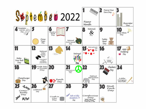 September 2022 Quirky Holidays and Unusual Celebrations