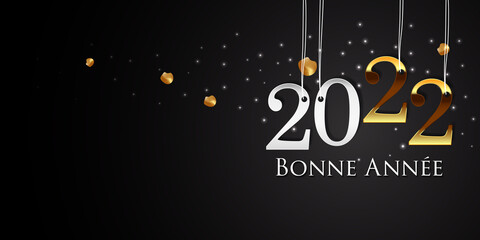 Fototapeta Carte de Voeux 2022 - Bonne Année  obraz