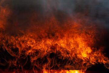 Vlam van vuur, abstracte bles vuur vlam textuur voor banner achtergrond, brand achtergrond.