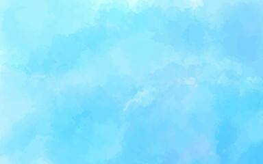 Fototapeta Watercolor blue brush strokes background design isolated vector illustration. Hand painted watercolor sky and clouds. abstract watercolor background vector illustration obraz