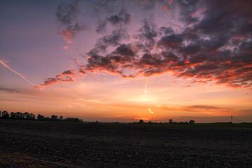 Fototapeta Efekty na niebie po zachodzie słońca. obraz
