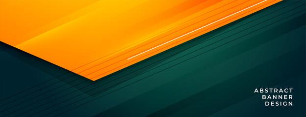 Fototapeta stylish green and orange abstract banner design obraz