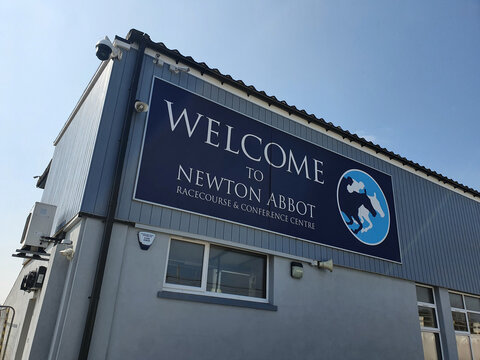 Newton Abbott, UK, July 22, 2021 : Newton Abbott Racecourse conference centre in Devon England which is a  popular horse racing events sport venue and a popular tourist travel destination