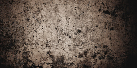 Obraz Horror and scary cement. walls are full of stains and scratches. - fototapety do salonu