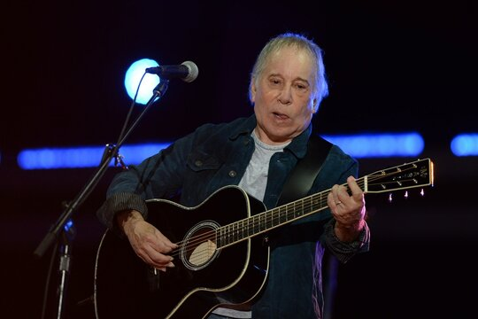 Paul Simon on stage for Global Citizen Concert 2021 NYC