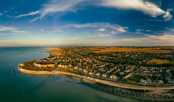 Aerial view of Westgate on Sea, Margate, Kent, UK