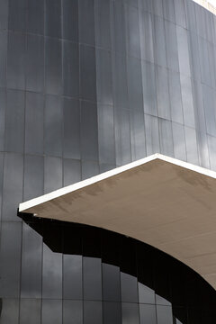 Detail of Memorial of Latin America designed by architect Oscar Niemeyer