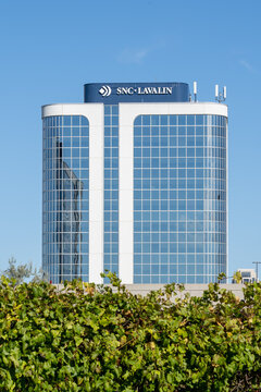 Etobicoke, Toronto, Canada - September 26, 2021: SNC-Lavalin office building in  Etobicoke, Toronto. SNC-Lavalin Group is a Canadian company provides engineering, procurement, and construction service
