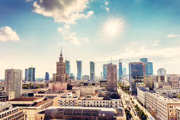 Fototapeta Warsaw, Poland panorama obraz