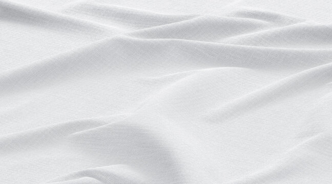 Blank white fabric waves material mockup, top view