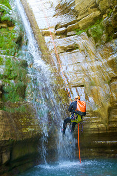 Canyoning Furco Canyon in Pyrenees