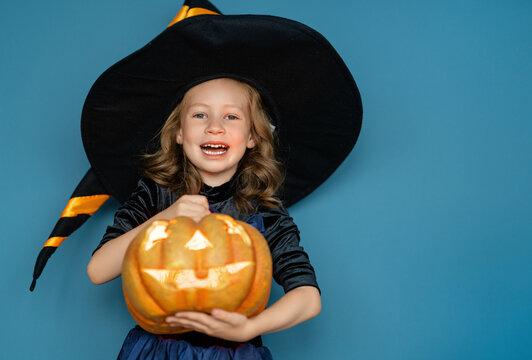 child on Halloween