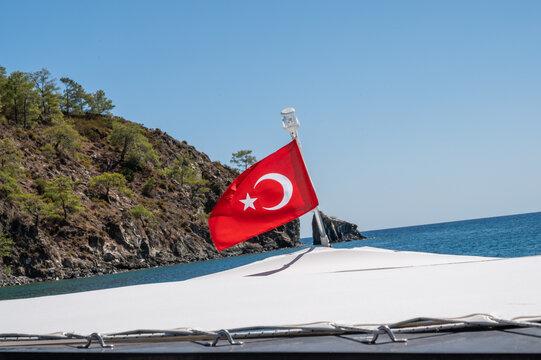 flag on the sea