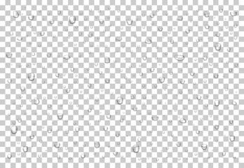 Fototapeta Realistic water drops obraz