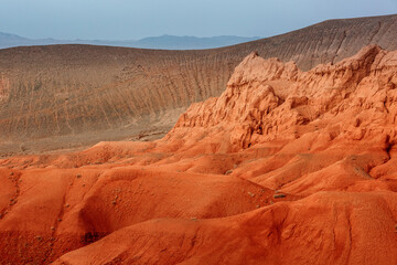 Red Mountains Boguty. Kazakhstan. Martian landscapes