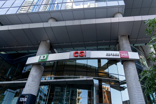 Montreal, QC, Canada - September 4, 2021: CGI headquarters in Montreal, QC, Canada. CGI Group Inc. is a Canadian multinational information technology consulting and systems integration company.