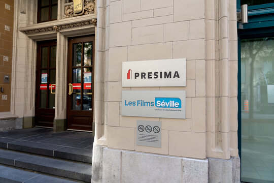 Montreal, Quebec, Canada - September 4, 2021: Presima Inc headquarters in Montreal, Quebec, Canada. Presima is a specialist boutique focused exclusively on global real estate securities.