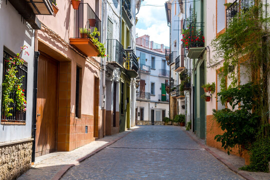 views of jerica old streets in valencia, Spain