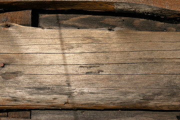 Fototapeta Deski drewno na elewacji budynku obraz