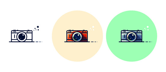 Obraz Vintage Cam icons - fototapety do salonu