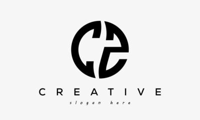 Fototapeta CZ creative circle letter logo design obraz