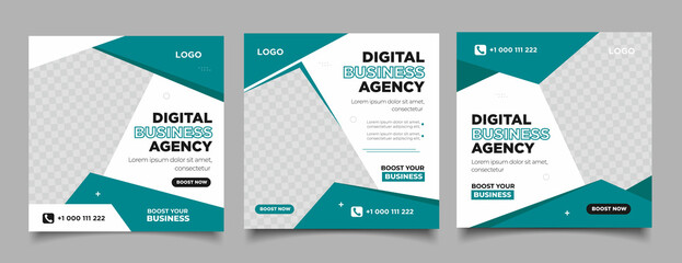 Fototapeta Digital Marketing Agency Social Media Banner obraz
