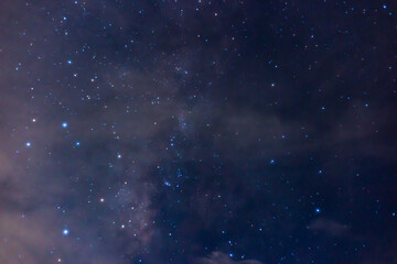 Fototapeta The stars in the sky at night, the night sky is closed, so the stars can be seen clearly  obraz