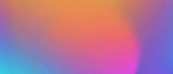 Fototapeta Abstract pastel holographic blurred grainy gradient banner background texture. Colorful digital grain soft noise effect pattern. Lo-fi multicolor vintage retro design. obraz