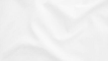 Obraz Fabric backdrop White linen canvas crumpled natural cotton fabric Natural handmade linen top view background Organic Eco textiles White Fabric linen texture - fototapety do salonu