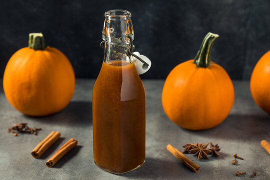 Homemade Organic Pumpkin Spice Simple Syrup