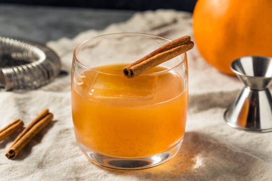 Boozy Refreshing Pumpkin Spice Old Fashioned Cocktail