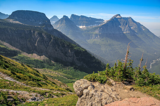 Highline Trail Scenic Views from Haystack Butte, Glacier National Park, Montana