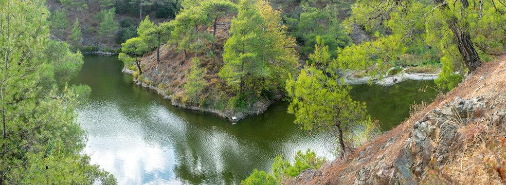 Water storage in Cyprus, Pera Pedi dam in Paphos forest