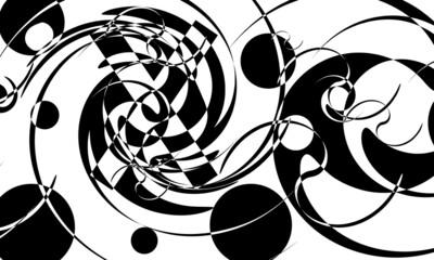 Obraz mystical black patterns for halloween modern wallpaper - fototapety do salonu