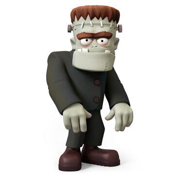 Frankensteins monster 3D character half view