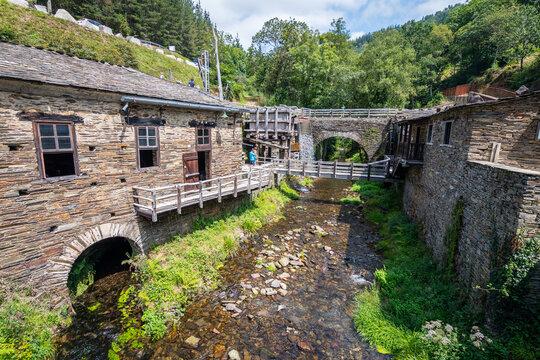 mazanovo water mill in taramundi, Spain