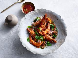 Fototapeta Pla Goong shrimp meal obraz