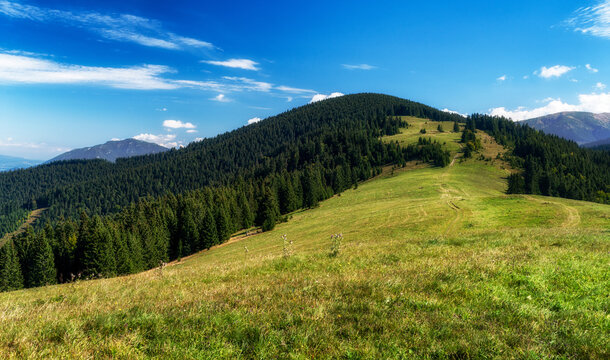 Hill Lupcianska Magura in Low Tatras mountains, Sovakia