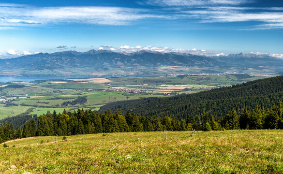 Beautiful mountain landscape. High Tatras mountains at Slovakia
